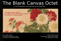 50:50 Online project present The Blank Canvas Octet Live on Zoom October 2020